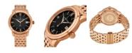 Stuhrling Alexander Watch A111B-07, Stainless Steel Rose Gold Tone Case on Stainless Steel Rose Gold Tone Bracelet