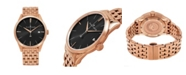Stuhrling Alexander Watch A911B-06, Stainless Steel Rose Gold Tone Case on Stainless Steel Rose Gold Tone Bracelet