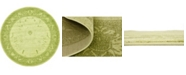 "Bridgeport Home Aldrose Ald4 Light Green 12' 2"" x 12' 2"" Round Area Rug"