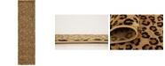 """Bridgeport Home Maasai Mss2 Light Brown 2' 7"""" x 10' Runner Area Rug"""