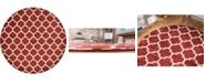 Bridgeport Home Arbor Arb1 Red 10' x 10' Round Area Rug