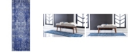 "Bridgeport Home Wisdom Wis3 Royal Blue 2' 2"" x 6' Runner Area Rug"