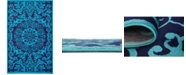 Bridgeport Home Politan Pol2 Turquoise 5' x 8' Area Rug