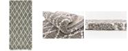 """Bridgeport Home Fazil Shag Faz3 Gray 2' 7"""" x 6' Runner Area Rug"""