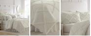 Laura Ashley Adelina White Comforter Set, Full/Queen