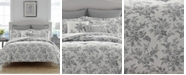 Laura Ashley Annalise Floral Shadow Grey Comforter Set, King
