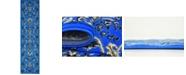"""Bridgeport Home Arnav Arn1 Blue 2' 2"""" x 8' 2"""" Runner Area Rug"""
