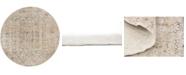 Bridgeport Home Odette Ode1 Beige 4' x 4' Round Area Rug