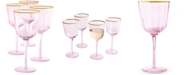 Martha Stewart Collection Blush All-Purpose Glasses, Set of 4, Created for Macy's