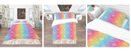 Design Art Designart 'Ethnic Floral Pattern' Bohemian and Eclectic Duvet Cover Set - Twin