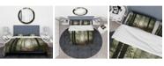 Design Art Designart 'Light In Dense Fall Forest With Fog' Traditional Duvet Cover Set - Queen