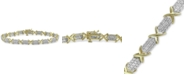 Macy's Diamond Tennis Bracelet (3 ct. t.w.) in 10k Gold