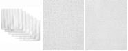Design Imports Assorted Microfiber Scrub Scour Polish, Set of 6