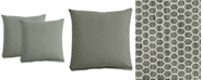 """Furniture Polyfill 21"""" Fabric Pillows (Set of 2), Created for Macy's"""
