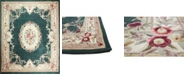 "KM Home CLOSEOUT!  Palace Garden Aubusson Dark Green 3'6"" x 5'6"" Area Rug"