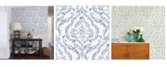 """A-Street Prints 20.5"""" x 396"""" Featherton Floral Damask Wallpaper"""