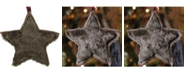 """Northlight 8"""" Brown Faux Fur Star Christmas Ornament Decoration"""
