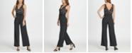 DKNY V-Neck Lace Top Jumpsuit