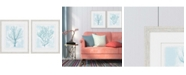 """Paragon Picture Gallery Paragon Living Teal Framed Wall Art Set of 2, 30"""" x 26"""""""