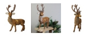 """Northlight 24"""" Brown and Gold Standing Reindeer Christmas Tabletop Figure"""