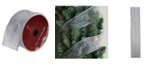 "Northlight Glittering Metallic Silver Swirl Wired Christmas Craft Ribbon 2.5"" x 10 Yards"