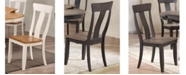 ICONIC FURNITURE Company Panel Back Dining Chairs, Set of 2