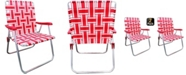 Outdoor Spectator Classic Aluminum Webbed Folding Lawn, Camp Chair, 2-Pack