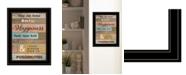 """Trendy Decor 4U Our Home by Karen Tribett, Ready to hang Framed Print, Black Frame, 15"""" x 19"""""""