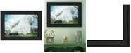 "Trendy Decor 4U White Barn by Bluebird Barn, Ready to hang Framed Print, Black Frame, 19"" x 15"""