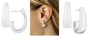 Macy's J-Hoop Earrings Set in 14k White Gold