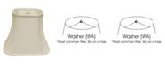 Macy's Cloth&Wire Slant Cut Corner Rectangle Bell Softback Lampshade with Washer Fitter