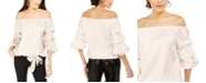 MSK Off-The-Shoulder Puff Sleeve Top