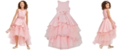 Rare Editions Big Girls Satin & Tulle Embellished Gown
