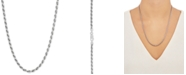 """Giani Bernini Rope Link 22"""" Chain Necklace in Sterling Silver"""