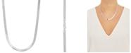 "Giani Bernini Herringbone Link 18"" Chain Necklace in Sterling Silver"