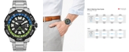 Citizen Eco-Drive Men's Promaster GMT Diver Stainless Steel Bracelet Watch 44mm
