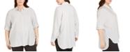 Calvin Klein Plus Size Striped Tunic