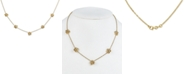 """Macy's Diamond Flower Statement Necklace (1/3 ct. t.w.) in 18k Gold-Plated Sterling Silver, 16"""" + 2"""" extender"""