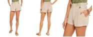 Rewash Juniors' Button-Tab Paper-Bag Waist Shorts