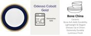 "Noritake Odessa Cobalt Gold Dinner Plate, 10-1/2"""