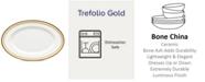 "Noritake Trefolio Gold Butter/Relish Tray, 8-3/4"""