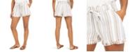 Rewash Juniors' Striped Frayed Shorts