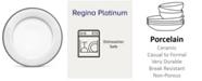 "Noritake Regina Platinum Dinner Plate, 10-1/2"""