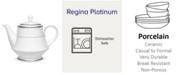 Noritake Regina Platinum Tea Pot, 38 Oz.