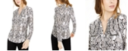 INC International Concepts INC Animal Print Zip-Detail Top, in Regular & Petite, Created for Macy's