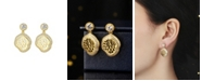 A&M Gold-Tone Beach Seashell Earrings