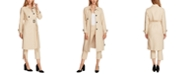 Vince Camuto Cotton Double Weave Belted Trench Coat