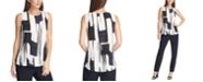 DKNY Abstract-Print Sleeveless Top