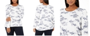 INC International Concepts INC Plus Size Printed Puff-Sleeve Sweatshirt, Created for Macy's