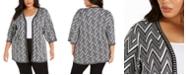 Belldini Plus Size Elbow-Sleeve Cardigan
